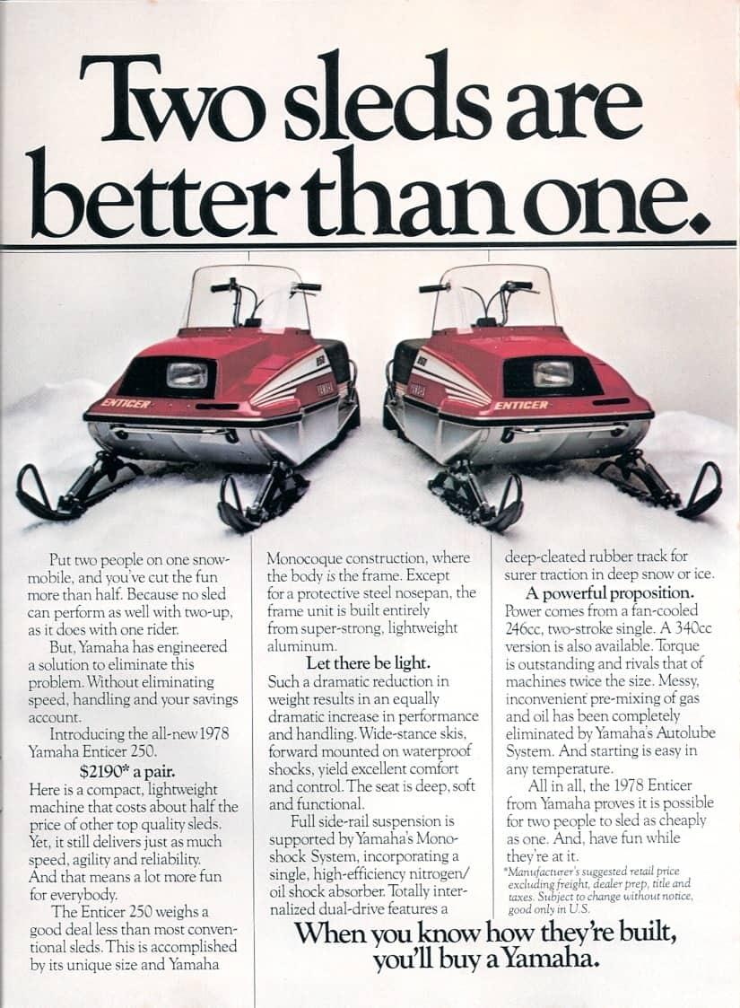 1978 Yamaha Enticer 250