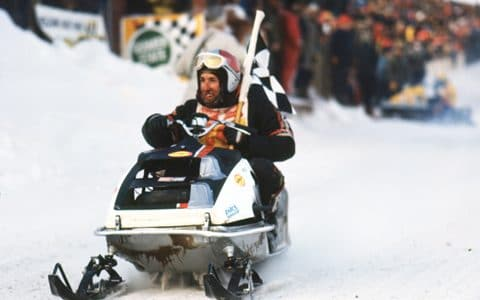 Mike Trapp and his 1971 Yamaha SR433 World Championship Race Sled