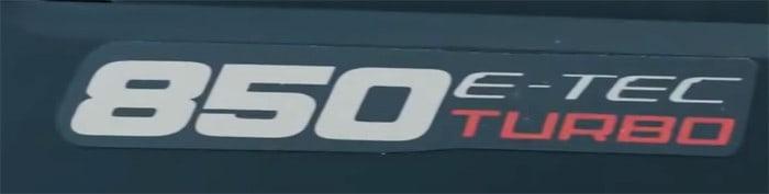 Ski-Doo 850 E-TEC Turbo, Ski-Doo 850 Turbo