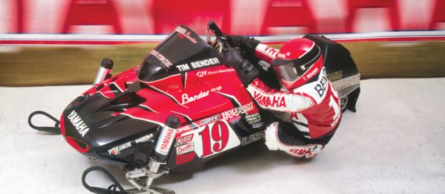 Tim Bender and his Yamaha Vmax-4 Formula III Race Sled