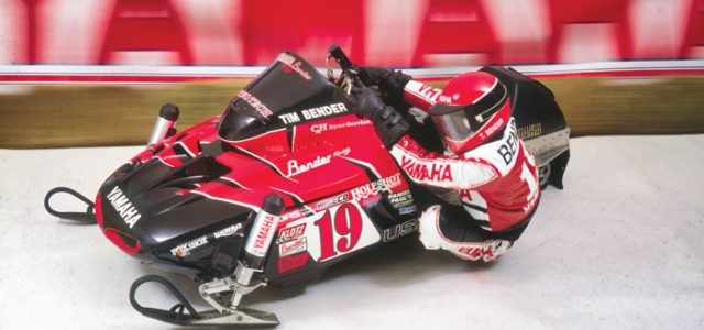 Tim Bender and his Yamaha Vmax-4 Formula III Race Sled