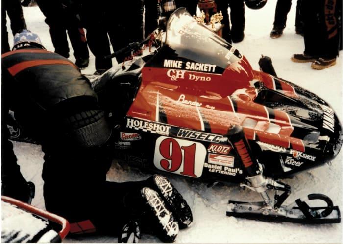 Tim Bender Yamaha Vmax-4 Formula III racing