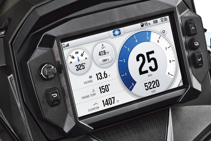 2021 Polaris MATRYX display