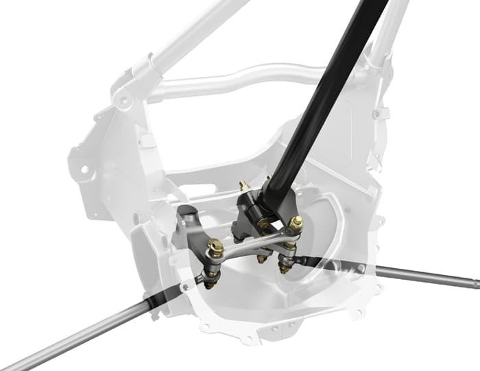 X-RS dual-arm rack steering