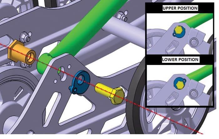 rMotion X Suspension adjustability