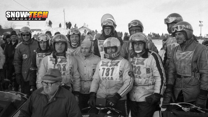Racers in the 1971 World Championship Race in Eagle River, WI
