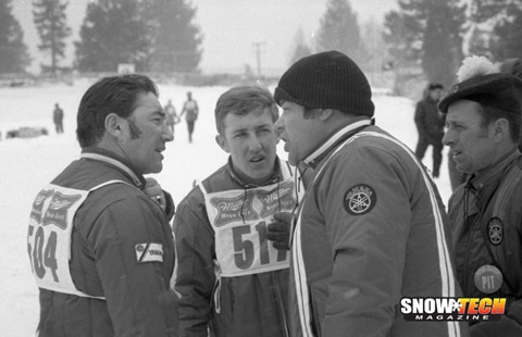 Ronnie Quimet, Mike Trapp, and Mike Bowers discuss race strategy at King's Castle