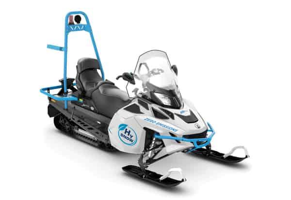 zero carbon hydrogen powered snowmobiles