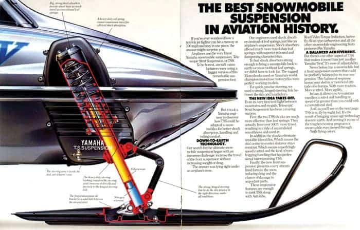 Yamaha SR-V, Telescopic Strut Suspension, TSS Suspension, Mono shock rear