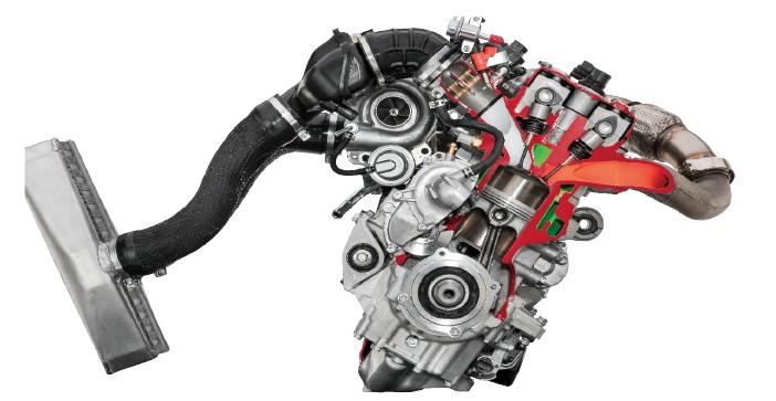Genesis 998 Turbo motor cutaway