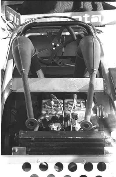 Manta twin track under hood