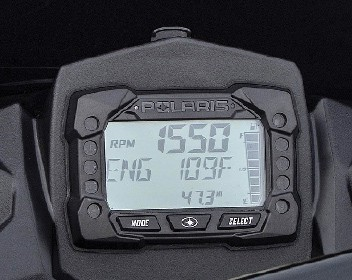 2017 Polaris MessageCenter Gauge