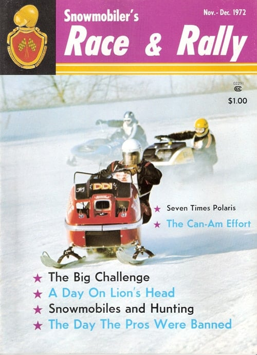Nov-Dec 1972 Snowmobiler's Race & Rally Magazine